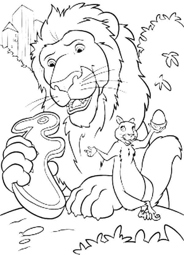 The Wild, : The Wild Samson Found Rabbit Biscuit Coloring Pages