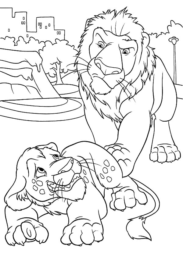 The Wild, : The Wild Samson is Mad to Ryan Coloring Pages