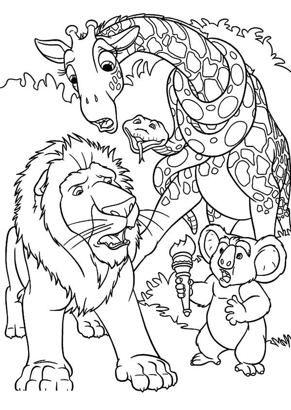 The Wild, : The Wild Samson is so Worry about Ryan Coloring Pages