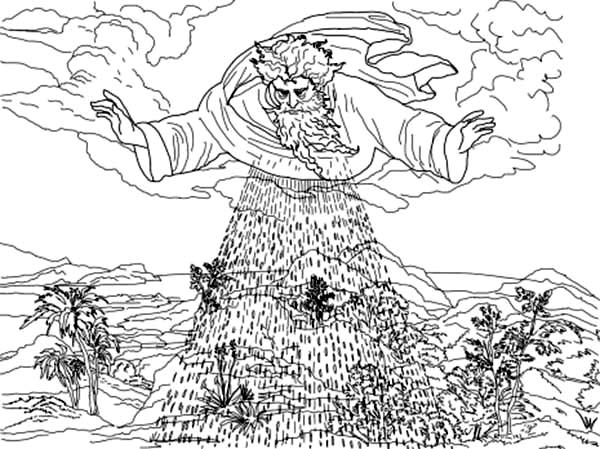Days Creation, : Third Days of Creation Coloring Pages