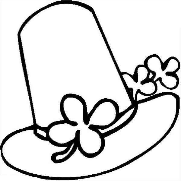 Hat, : Three Clover Hat Coloring Pages