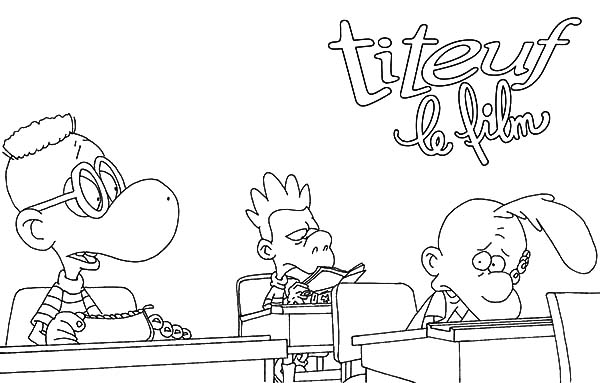 Titeuf, : Titeuf in the Class Coloring Pages