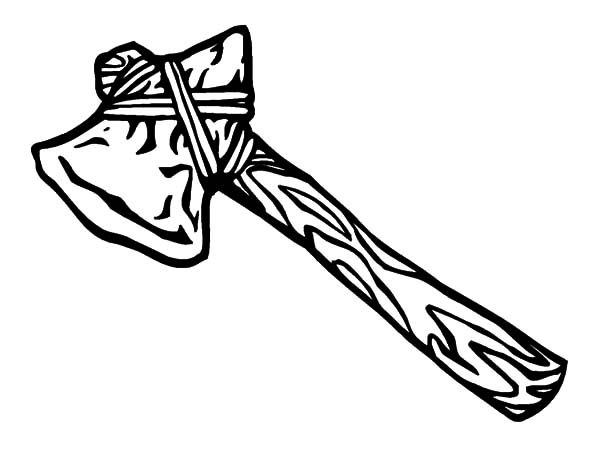 hatchet, : Tomahawk Hatchet from Native American Coloring Pages