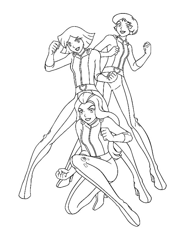 Totall Spies, : Totall Spies Ready to Fight Coloring Pages