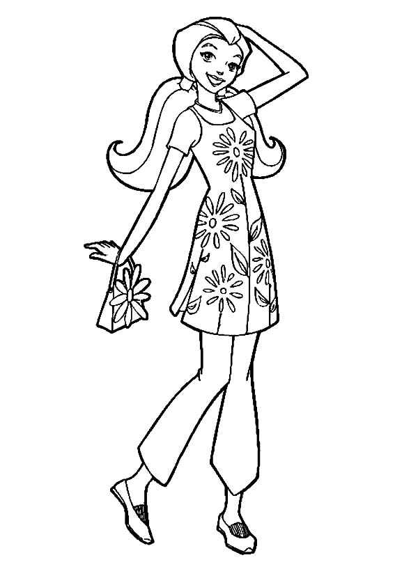 Totall Spies, : Totall Spies Sam Going Vacation Coloring Pages