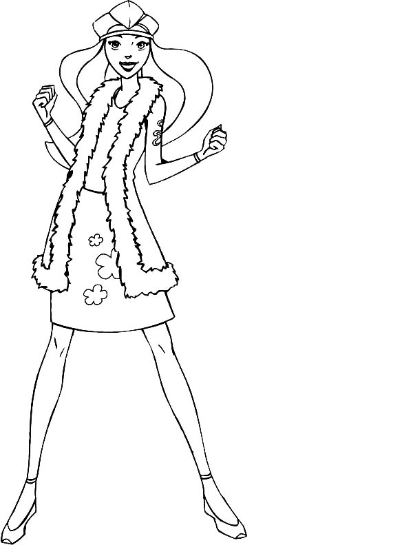 Totall Spies, : Totall Spies Sam Wear Winter Outfit Coloring Pages