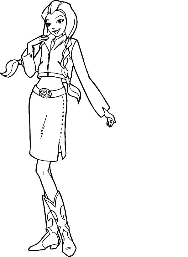 Totall Spies, : Totall Spies Sam is so Beautiful Coloring Pages