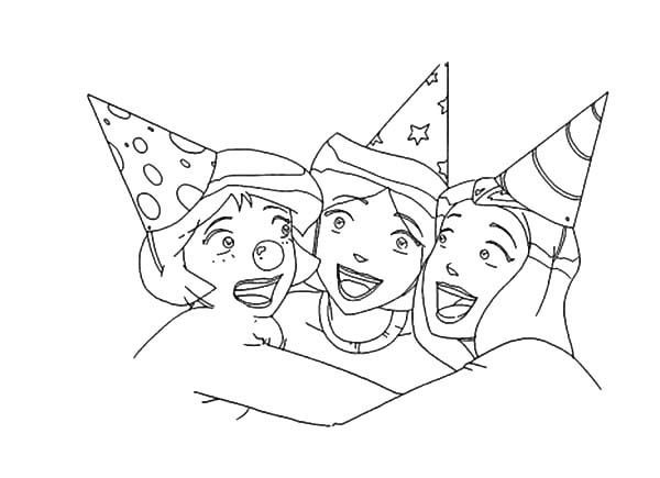 Totall Spies, : Totally Spies Party Coloring Pages