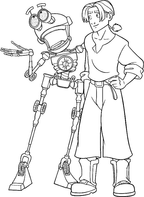 Treasure Planet, : Treasure Planet B.E.N Tell Jim Hawkins Great Story Coloring Pages