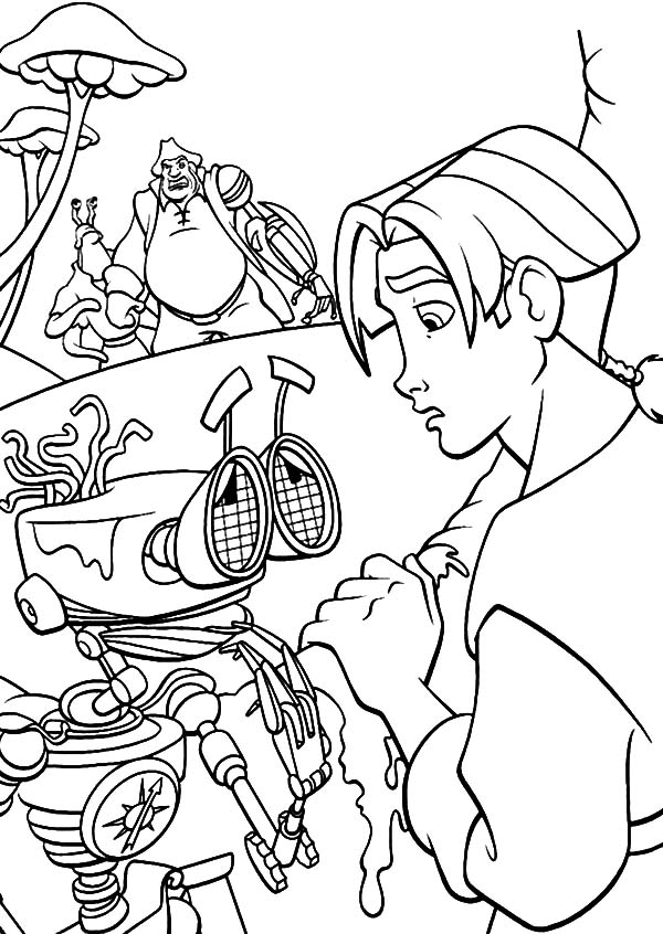 Treasure Planet, : Treasure Planet B.E.N is Broken and Exhausted Coloring Pages
