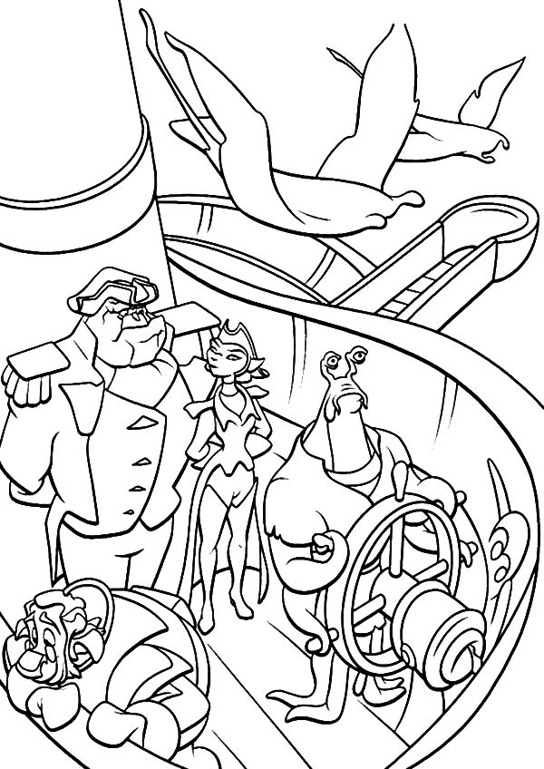 Treasure Planet, : Treasure Planet Dr Delbert Doppler and His Friends Coloring Pages