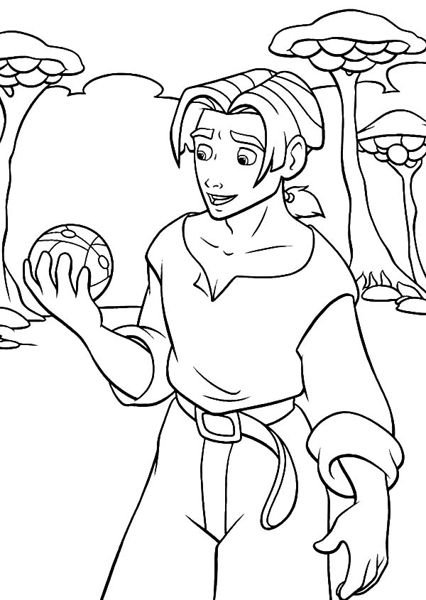 Treasure Planet, : Treasure Planet Jim Hawkins Hold the Sphere Coloring Pages