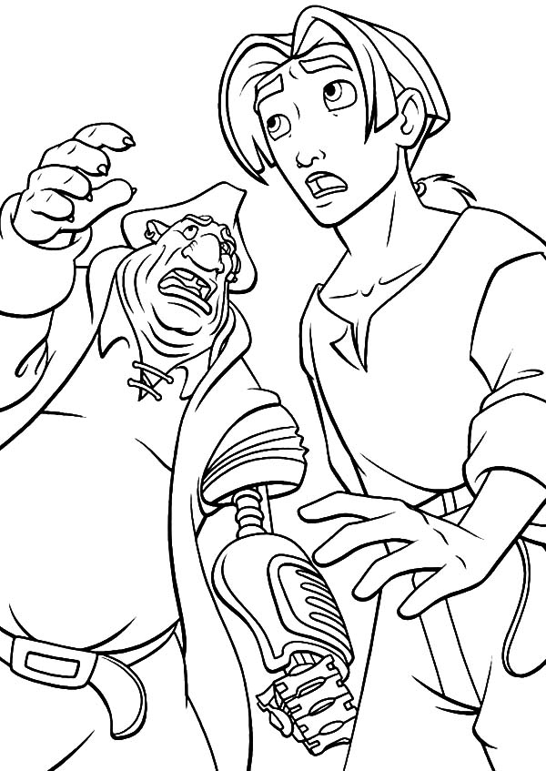 Treasure Planet, : Treasure Planet Jim Hawkins is Shocked Coloring Pages