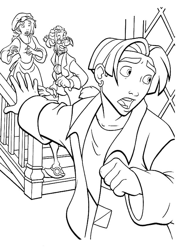 Treasure Planet, : Treasure Planet Jim Told His Mother Sarah Hawkins and Dr Delbert Soppler to Leave Coloring Pages