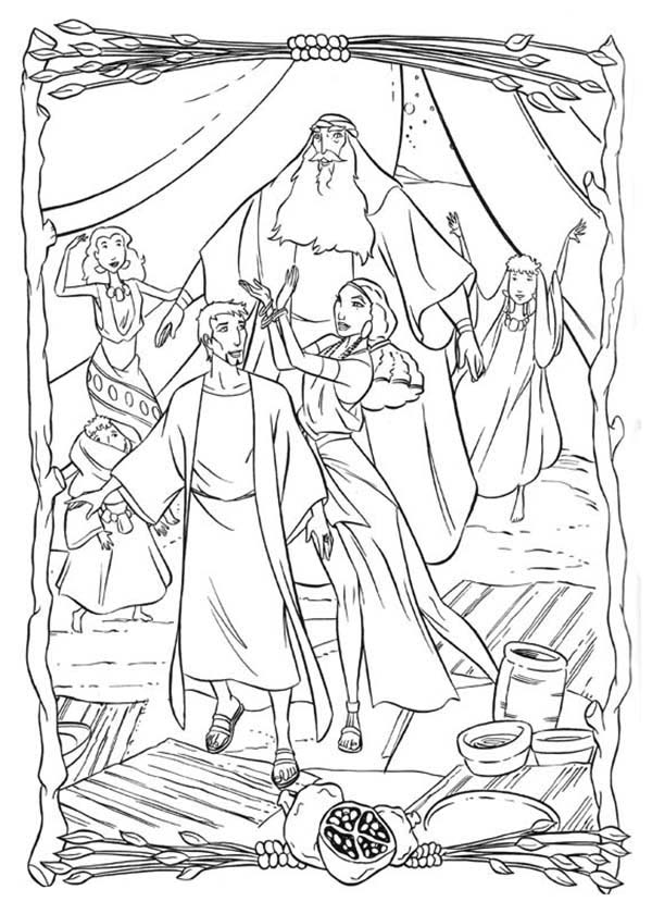 Prince Of Egypt, : Tzipporah Applauded The Prince of Egypt Coloring Pages