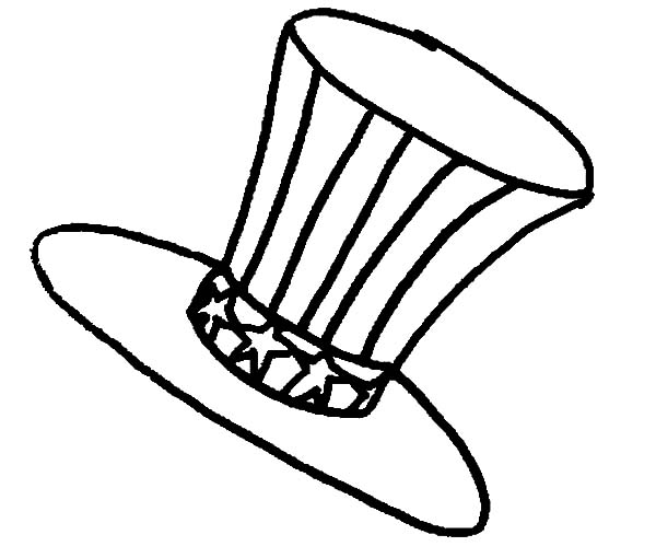Hat, : Uncle Sam Hat Coloring Pages
