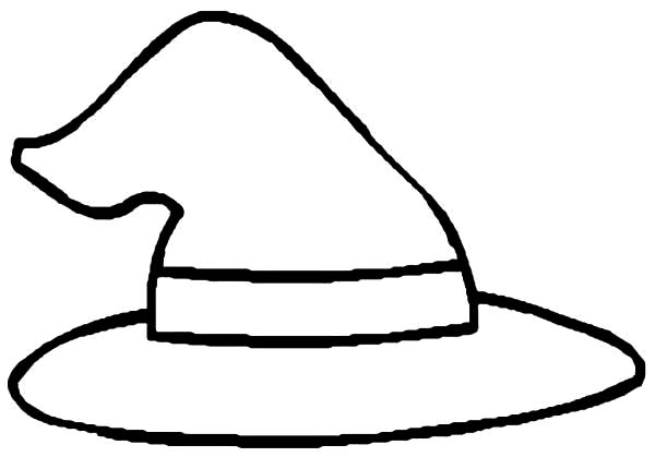 Hat, : Witch Hat Coloring Pages