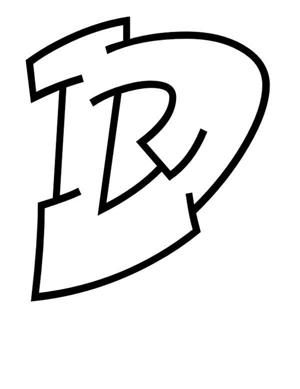 Letter D, : Write Letter D Coloring Page