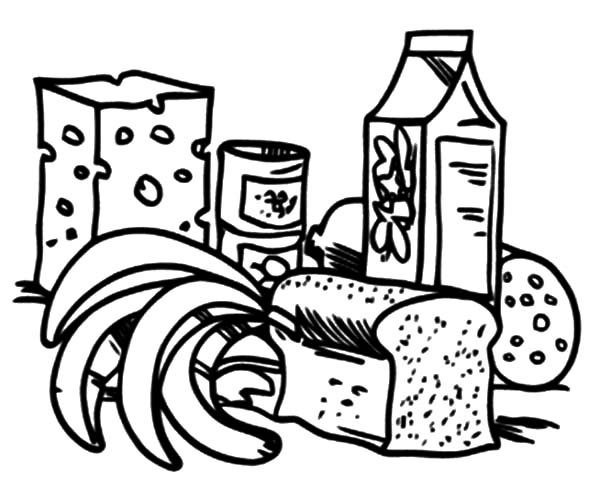 Healthy Eating, : Yummy Healthy Eating Coloring Pages
